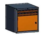 99551589 Szafka typ Z, 1 drzwi, 2 szuflady 75+75 (wymiary: 625x600x690 mm)