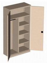 99551660 Szafa biurowa 0,7mm, 2 drzwi, 4 półki (wymiary: 1990x1200x435 mm)