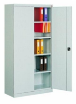 99551694 Szafa biurowa 1,0mm, 2 drzwi, 4 półki (wymiary: 1990x1200x435 mm)