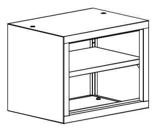 99551729 Nadstawka do regału zamkniętego, 1 półka (wymiary: 465x800x435 mm)