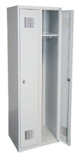 99551944 Szafka ubraniowa 0,5mm, 2 drzwi, zamek cylindryczny zamykany w 3 punktach (wymiary: 1800x800x500 mm)