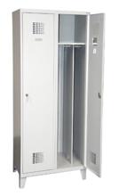 99551958 Szafka ubraniowa 0,8mm na nóżkach, 2 drzwi, zamek cylindryczny zamykany w 3 punktach (wymiary: 1940x600x500 mm)