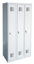 99551959 Szafka ubraniowa 0,8mm, 3 drzwi, zamek cylindryczny zamykany w 1 punkcie (wymiary: 1800x900x500 mm)