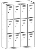 99552076 Szafka ze schowkami 0,8mm, 12 drzwi (wymiary: 1800x1200x500 mm)