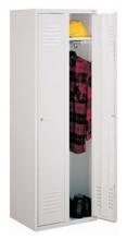 99552152 Szafka ubraniowa 0,8mm, zamek na kłódkę, 2 drzwi (wymiary: 1800x600x490 mm)