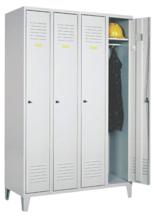 99552163 Szafka ubraniowa 0,8mm na nóżkach, zamek ryglujący drzwi w 3 punktach, 4 drzwi (wymiary: 1940x1200x490 mm)