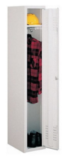 99552165 Szafka ubraniowa 0,8mm, zamek ryglujący drzwi w 3 punktach, 1 drzwi (wymiary: 1800x400x490 mm)