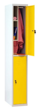 99552330 Szafa szkolna z półką wewnątrz, 2 drzwi, wersja lux (wymiary: 1800x300x490 mm)