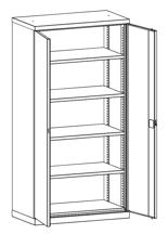 99552482 Szafa warsztatowa, 4 półki (wymiary: 1950x1000x540 mm)