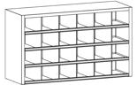 99552511 Szafa warsztatowa, 24 skrytki (wymiary: 900x1500x500 mm)