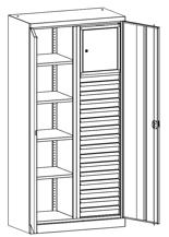 99552520 Szafa warsztatowa, 4 półki, 16 szuflad , 2 drzwi (wymiary: 1950x950x500 mm)