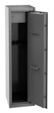 99552653 Szafa do przechowywania broni, 1 drzwi, 1 skarbczyk, przystosowana na 5 szt. broni długiej (wymiary: 400x450x1500 mm)