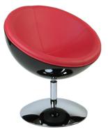 99850991 Fotel obrotowy Mercury (kolor: czarny/czerwone)