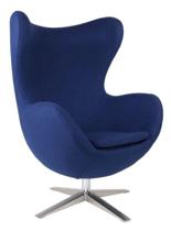 99851010 Fotel Jajo inspirowany Egg szeroki wełna (kolor: niebieski)