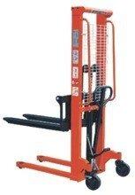DOSTAWA GRATIS! 00543619 Wózek podnośnikowy ręczny z widłami regulowanymi oraz dodatkowa pompą nożną (udźwig: 1000 kg, min./max. wysokość wideł: 85/1600 mm)