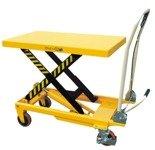 DOSTAWA GRATIS! 00546098 Wózek paletowy stołowy (udźwig: 500 kg, min./max. wysokość podestu: 285/880 mm, wymiary platformy: 850x500 mm)