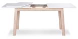 DOSTAWA GRATIS! 11260826 Nowoczesny stół Stockholm 140-190cm (kolor: biały, dąb snoma)