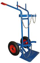 DOSTAWA GRATIS! 13340552 Wózek dwukołowy spawalniczy do przewozu butli gazowych (nośność: 400 kg)