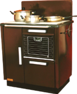 DOSTAWA GRATIS! 25960202  Kuchnia węglowa 9,2kW KAROLINA wylot spalin z  boku z lewej strony (kolor: brązowy)