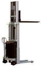DOSTAWA GRATIS! 310510 Wózek podnośnikowy z częściowym napędem elektrycznym MS1009 (maszt pojedyńczy, wysokość podn. maks: 900mm, udźwig: 1000 kg)