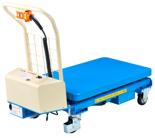 DOSTAWA GRATIS! 39955548 Wózek platformowy nożycowy elektryczny (wysokość podnoszenia: 445-1610 mm,wymiary: 1010x520mm, udźwig: 300 kg)
