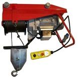 DOSTAWA GRATIS! 55564737 Wciągarka budowlana elektryczna Bellussi HE 800 TF T.D. CED + zdalne sterowanie z niskim napięciem (udźwig: 800 kg, długość liny: 25m)