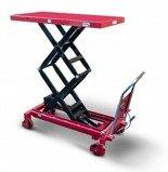 DOSTAWA GRATIS! 62666895 Wózek platformowy nożycowy (udźwig: 800 kg, wymiary platformy: 1220x610 mm, wysokość podnoszenia min/max: 475-1520 mm)