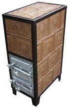DOSTAWA GRATIS! 92238182 Piec grzewczy kaflowy 9,5kW Retro czterowarstwowy na drewno i węgiel (kolor: zieleń)