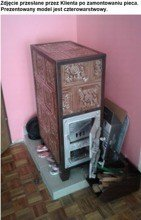 DOSTAWA GRATIS! 92238183 Piec grzewczy kaflowy 9,5kW Retro czterowarstwowy na drewno i węgiel (kolor: brąz)