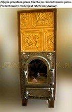 DOSTAWA GRATIS! 92264204 Piec grzewczy kaflowy 7,8kW Retro trzywarstwowy z szybą na drewno i węgiel (kolor: brąż
