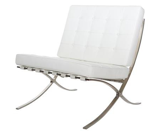 DOSTAWA GRATIS! 99850954 Fotel BA1 Premium Inspirowany Barcelona (kolor: biały)