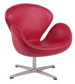 DOSTAWA GRATIS! 99851012 Fotel Cup inspirowany projektem Swan skóra (kolor: czerwony)