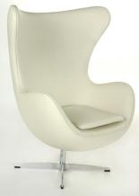 DOSTAWA GRATIS! 99851040 Fotel Jajo inspirowany Egg skóra (kolor: biały)