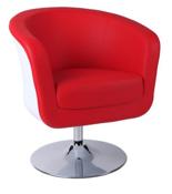 DOSTAWA GRATIS! 99851050 Fotel obrotowy Magnum (kolor: biały/czerwony)