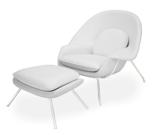 DOSTAWA GRATIS! 99851062 Fotel Snug z podnóżkiem inspirowany Womb (kolor: biały)