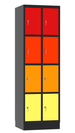 00141887 Szafa skrytkowa, 2 segmenty, 8 skrytek (wymiary: 1950x610x480 mm)