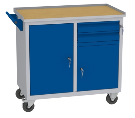 00142043 Wózek narzędziowy, 2 szuflady (wymiary: 860x950x505 mm)