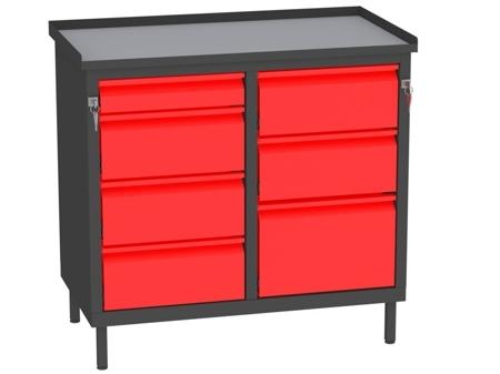 00142060 Szafka warsztatowa, 7 szuflad (wymiary: 850x900x505 mm)
