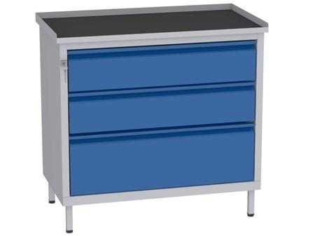 00142064 Szafka warsztatowa, 3 szuflady (wymiary: 850x900x505 mm)
