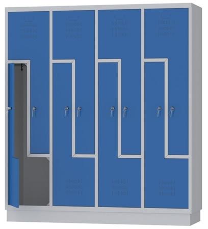 00150397 Szafa ubraniowa L, 4 segmenty, 8 drzwi (wymiary: 1800x1590x480 mm)