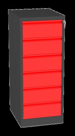 00150468 Szafa kartotekowa na teczki A5 poziome, 2 rzędy, 6 szuflad (wymiary: 1280x525x630 mm)
