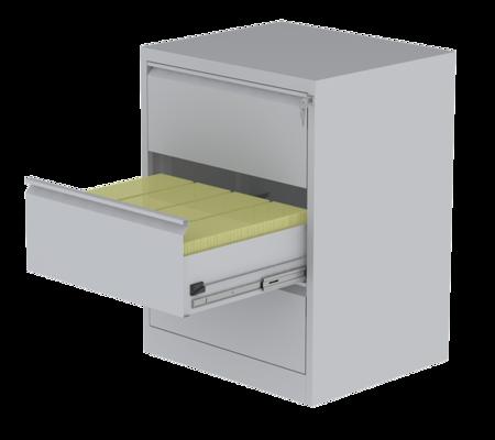 00150475 Szafa kartotekowa na teczki A5 pionowe, 4 rzędy, 3 szuflady (wymiary: 995x745x630 mm)