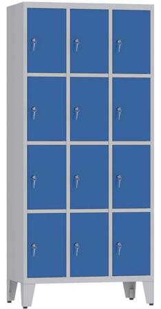 00150500 Szafa skrytkowa na nogach, 3 segmenty, 12 skrytek (wymiary: 2010x900x480 mm)