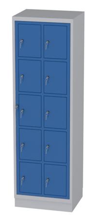 00150511 Szafa skrytkowa z drzwiami centralnymi, 10 skrytek (wymiary: 1950x610x480 mm)