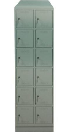 00150535 Szafa skrytkowa z daszkiem, 2 segmenty, 12 skrytek (wymiary: 2135x610x480 mm)