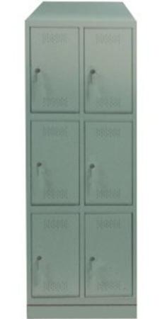00150552 Szafa skrytkowa z daszkiem, 2 segmenty, 6 skrytek (wymiary: 2135x710x480 mm)