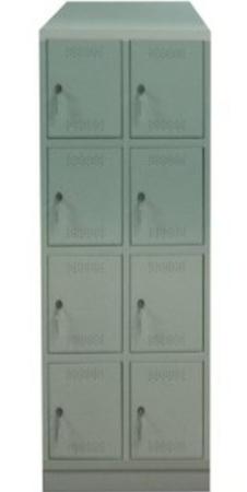 00150553 Szafa skrytkowa z daszkiem, 2 segmenty, 8 skrytek (wymiary: 2135x710x480 mm)