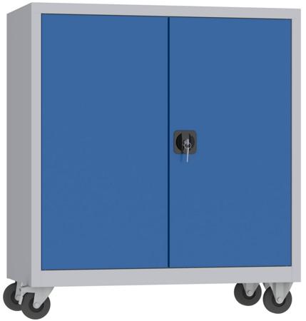 00150591 Szafa na akta na kółkach, 2 drzwi (wymiary: 1000 + koła x1000x500 mm)