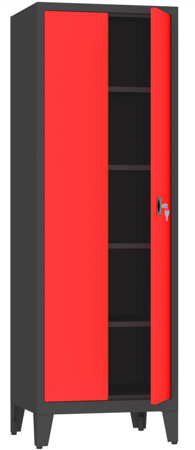00150594 Szafa biurowa na nogach, 2 drzwi (wymiary: 2060x700x600 mm)