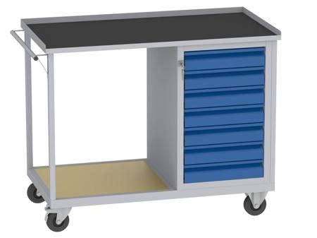 00150670 Wózek platformowy, 7 szuflad (wymiary: 890x1150x590 mm)